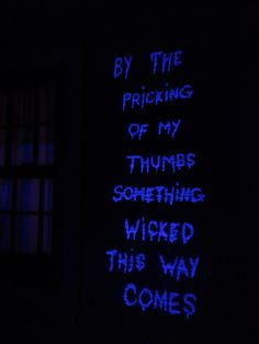 Post with 0 votes and 234 views. I was told that you all might like this here - the Bard helps with my Halloween decorations (Painted on my vinyl siding with Tide detergent & lit with blacklight).