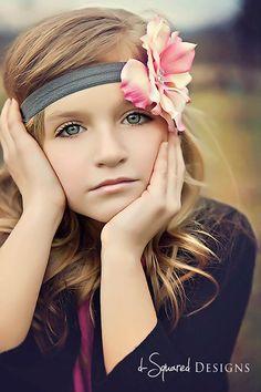 Baby Headband- Girl Headband- Flower Headband- Pink and White Silk Flower on Charcoal Headband. Little Girl Photography, Cute Kids Photography, Creative Photography, Portrait Photography, Family Photography, Photography Ideas, Girl Photo Shoots, Girl Photos, Little Girl Poses