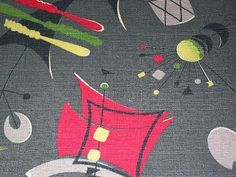'Sputnik' fabric print
