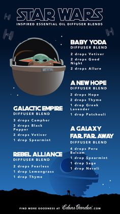 EG DIYs and Recipes Star Wars Inspired Essential Oil Diffuser Blends 10 Tips on How to Cure Back Acn Essential Oils 101, Essential Oil Diffuser Blends, Young Living Oils, Young Living Essential Oils, Diffuser Recipes, Diy Blog, Star Wars, Nyx Matte, Matte Lipsticks