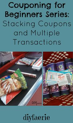 Couponing for Beginners Series: Stacking Coupons and Multiple Transactions Couponing For Beginners, Couponing 101, Extreme Couponing, Shopping Coupons, Shopping Hacks, Grocery Coupons, Free Coupons, Shopping Sites, Money Tips