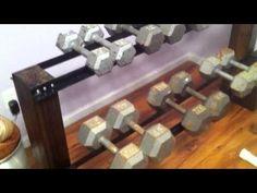DIY Dumbbell Rack - YouTube