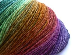 beautiful colors in hand spun yarn by madmargie