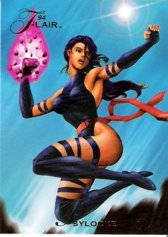~ 1994 Flair Marvel Universe (Fleer) Card Psylocke ~ The card is in Near Mint-Mint condition. All cards are in Ultra Pro Card Sleeves.