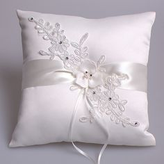 New Trends Lace wedding ring pillow wedding party Supplies wedding Ring Bearer Pillows (Ivory) Wedding Ring Cushion, Wedding Pillows, Cushion Ring, Cushion Pillow, Ring Bearer Pillows, Ring Pillows, Wedding Crafts, Wedding Decorations, Wedding Favors