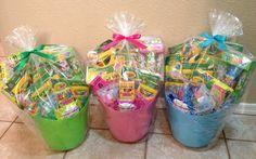 Filled Easter Basket Crayola by GingerellasBows on Etsy