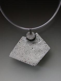 Concrete pendant, paint, rubber Concrete, Sculpture, Paint, Jewellery, Pendant, Silver, Fashion, Jewelery, Moda