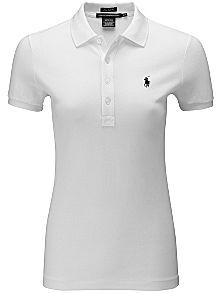Solid mesh polo