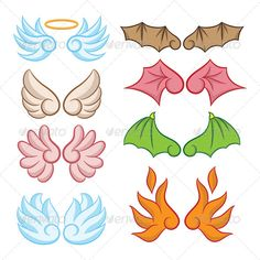 Wings Collections #GraphicRiver Angel and Devil Cute Wings Collections, Easy to use. ZIP file included : EPS (CMYK vector file = you can use any size you want without loss resolution), JPEG (RGB high resolution file 4000×4000 px), Ai 10, PNG and PDF . No layers. Use Adobe Illustrator 8 or higher to edit EPS (vector file) or Adobe Photoshop to edit JPEG file. You can see detail in Screenshots menu. Created: 4August13 GraphicsFilesIncluded: TransparentPNG #JPGImage #VectorEPS #AIIllustrator…