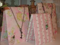 Necklace display pieces that lay flat for easy transport. Easy to make!