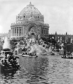 Worlds Fair, St. Louis 1904. Nearly every structure was designed to be temporary, built mostly of plaster. Incredible.