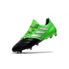 Adidas ACE - Newest Adidas Ace 17.1 Primeknit Leather FG Mens Black Green  Soccer Shoes Online 901ca76bb644b