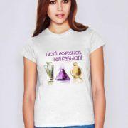 """Tricou fashion din bumbac, cu inscriptia """"I don't do fashion. I am fashion!"""" inspirata de cuvintele faimoasei creatoare de moda Coco Chanel.  #coco #fashion #moda #motivare #parfum #tricou #tricouri #tricouripersonalizate Coco Chanel, T Shirts For Women, Tops, Fashion, Fragrance, Atelier, Moda, Fashion Styles, Shell Tops"""