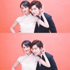 LOVE O2O stars yangyang and zheng shuang takes wedding photos for photo shoot. (not real)