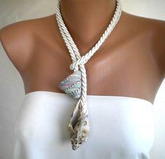 Ocean Waves handmade Sea Shell Necklace. $48.00, via Etsy.