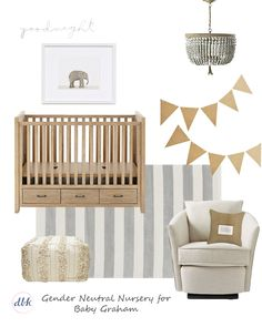 Neutral Nursery Design via @KatyByrneDesign