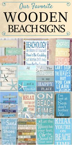 Wooden Beach Signs and Wooden Coastal Signs WOODEN BEACH SIGNS LIST. Discover the absolute best wooden beach signs we have to offer at Beachfront Decor! We have a huge variety of nautical, tropical, coastal, beach, and ocean themed wooden signs that Coastal Style, Coastal Decor, Rustic Beach Decor, Tropical Decor, Palm Springs, Beach Signs Wooden, Nautical Signs, Nautical Compass, Beachy Signs