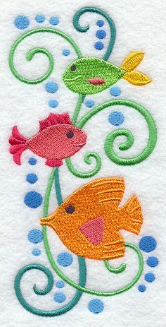 Pottery Barn Kids FUNNY FISH Inspired X By Paintmama On Etsy - Fish bath towels for small bathroom ideas