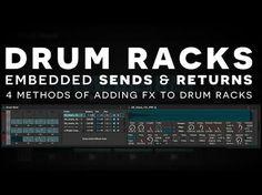 Ableton Tutorial: Sends & Returns Embedded in Drum Racks - Joshua Casper