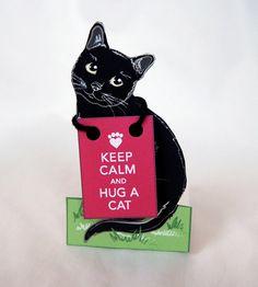 Keep Calm and Hug A Cat