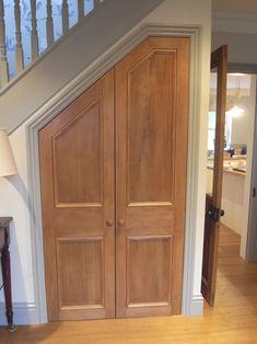 Douglas Fir Doors - under stairs cupboard