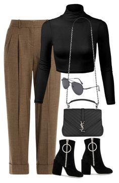 """Sem título #1461"" by oh-its-anna ❤ liked on Polyvore featuring Michael Kors, Yves Saint Laurent and Off-White"