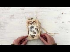 Fabric Book | Tim Holtz - idea-ology 2020 | Creativation 2020 | Flip Through - YouTube Tim Holtz Blog, Fabric Journals, Art Journals, Tim Holtz Fabric, Art Journal Tutorial, Book Journal, Journal Ideas, Handmade Journals, What To Make