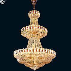 K9 Crystal Light Hotel non-standard engineering / hall lamp light lobby luxury bedroom lamp lights gold Chandeliers Lmy-0218