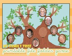 """family tree printable file folder game along with a """"What is Family History?"""" FHE lesson"""