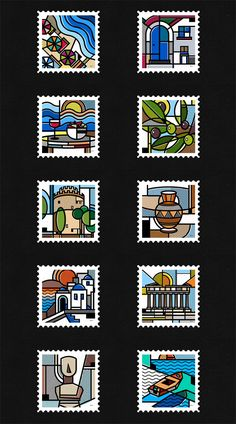 Destination Greece, a stamp collection by Mike Karolos.
