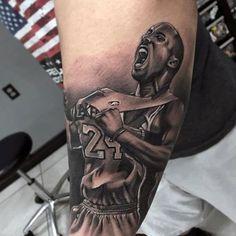 30 kobe bryant tattoo designs for men - basketball ink ideas S Tattoo, Leg Tattoos, Black Tattoos, Tattoos For Guys, Sleeve Tattoos, Tattoo Sleeve Designs, Tattoo Designs For Women, Kobe Bryant Retirement, Kobe Bryant Tattoos