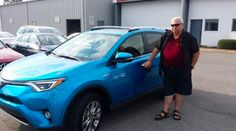 #TGIF for Mr. Robert Moreno with his brand-new RAV4 Hybrid Limited! We love this hot color combination, nice choice Robert! #ToyotaFWB #LetsGoPlaces