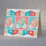 Hammerpress Hello Baby! Elephants Greeting Card at The Fig Tree in Chicago