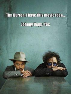 Johnny Depp Tim Burton film funny