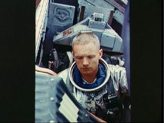 Astronaut Neil A. Armstrong, Gemini 5 backup crew command pilot, sits in the Gemini Static Article 5 spacecraft and prepares to be lowered from the deck of the NASA Motor Vessel Retriever for water egress training in the Gulf. #space #astronaut