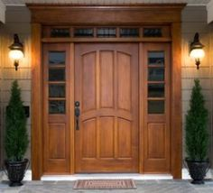 Wood entry with transom - traditional - front doors - burr63