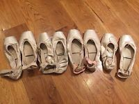 4 Pairs Used Ballet Pointe Shoes - Russian Style