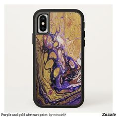 Purple and gold abstract paint Case-Mate iPhone case New Iphone, Apple Iphone, Rugged Style, Unique Iphone Cases, Purple Gold, Artwork Design, Abstract, Painting, Rustic Style