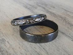 Sterling Silver Rings His and Hers Wedding by GioielliJewelry #HisandHersDiamondWeddingRingSets