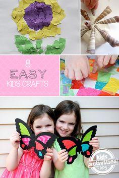 Lots of fun for Kindergartners! http://kidsactivitiesblog.com/46483/8-easy-crafts-for-kids