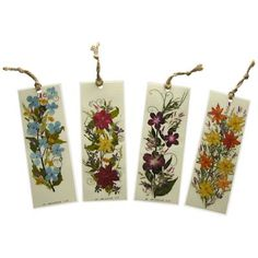 Handmade Floral Bookmarks Made with Dry Flowers from El Salvador