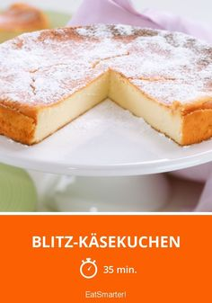 Blitz-Käsekuchen – nur 7 Zutaten - Cheesecake Rezepte - Without bottom, 1 kg of curd cheese and made really quickly! Lemon Layer Cakes, Layer Cake Recipes, Cheesecake, Cake Board, No Bake Treats, Food Cakes, Cake Cookies, No Bake Cake, Sweet Recipes