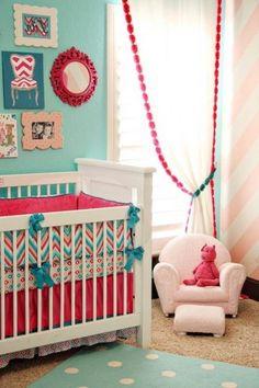 Bedroom, Pretty Baby Girl Bedroom Decor: Cute Baby Room Ideas