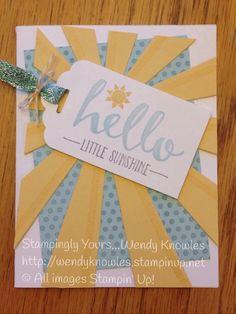 Stampin' Up! Demonstrator - SU - Hello - SAB - Sunburst Thinlits