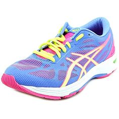 ASICS Womens GelDS Trainer 20 Running Shoe Powder BlueFlash YellowHot Pink 7 M US >>> Details can be found by clicking on the image.
