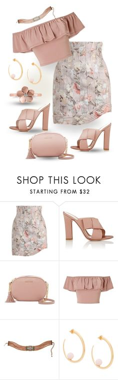 """""""Dusty Dawn"""" by runners ❤ liked on Polyvore featuring Zimmermann, Gianvito Rossi, MICHAEL Michael Kors, Miss Selfridge, Heidi Daus, KHIRY and Allurez"""