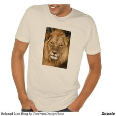 Relaxed Lion King Poly-Cotton Blend T-Shirt