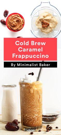 1. Cold Brew Caramel Frappuccino #healthy #Starbucks #recipe http://greatist.com/eat/starbucks-copycat-recipes