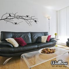 Winter Branch With Birds Wall Sticker tree wall decal by Wallboss, £22.99