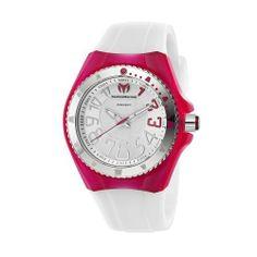 TechnoMarine Women's 110058 Cruise Original Beach 3 Hands Silver and Pink Dial Watch
